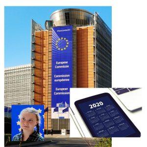 Greta Thunberg in Commissione Europea.