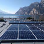 Installazione impianto fotovoltaico presso Hotel Riviera, a Riva del Garda.