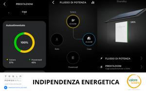 Immagine reale di sistema di accumulo Tesla Powerwall in attività nel mese di Febbraio 2021 installato in Lombardia.