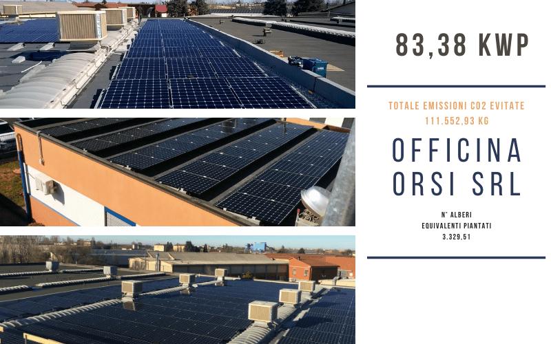 Impianto fotovoltaico SunPower Officina Orsi srl